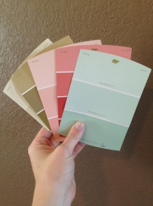 play room paint swatches